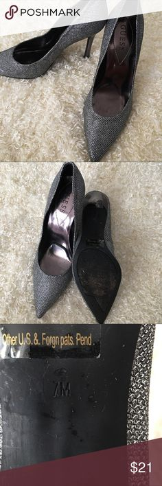 "Sparkly Heels Gorgeous heels, pre-loved ❤️, excellent condition, perfect for both a ""date night"" & ""night with the girls"" ❤️ Guess Shoes Heels"