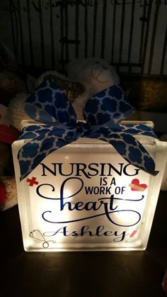 Check out this item in my Etsy shop https://www.etsy.com/listing/249017428/nursing-is-a-work-of-heart-nursing-gift