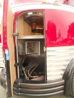 1941 GM Futurliner mechanic's access door open