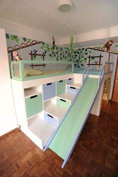 Small Room Design Bedroom, Teen Bedroom Designs, Room Ideas Bedroom, Home Room Design, Cool Kids Bedrooms, Awesome Bedrooms, Cool Rooms, Small Rooms, Kids Bed Design