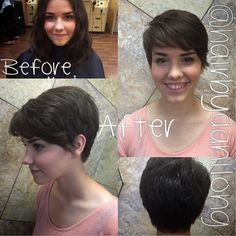 How gorgeous is this girl with her new pixie?!