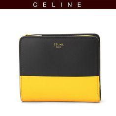 【楽天市場】セリーヌ CELINE 二つ折り財布 イエロー 黄色×ブラック 黒 102533-HTM-11RK:グラマラストウキョウ