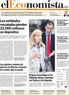 Los Titulares y Portadas de Noticias Destacadas Españolas del 4 de Abril de 2013 del Diario el Economista ¿Que le parecio esta Portada de este Diario Español?