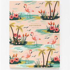 Cahier flamant rose par Rifle Paper Co - Boutique La Rose Pourpre - Flamingo