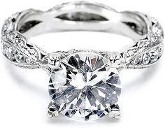 Tacori Criss-Cross Channel-Set & Pave Diamond Engagement Ring 2578RD