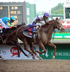 """""""I'll Have Another"""" wins Preakness by a nose.  Triple Crown?"""