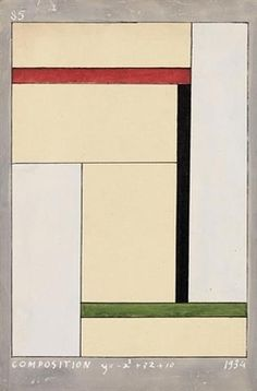 Georges Vantongerloo, Composition y=-x2+3x+10, 1934