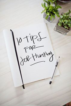 10 Job-Hunting Tips - work it + sell it! #planning #smallbiz