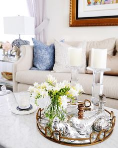Living room decor | Coffee table styling | Tray styling | Classy Glam Living (@classyglamliving) • Instagram photos and videos