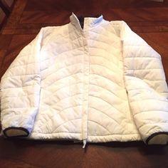 SALELands End Off-White Jacket XL 18-20 Never worn Lands End Off--White Jacket. Paper still on zipper pulls. Zip front. Waist clinchers. Lined. Beautiful Jacket. No trades Lands' End Jackets & Coats