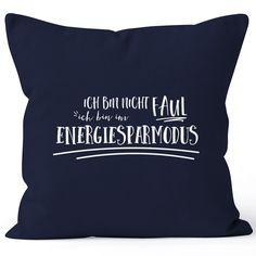 Kissenbezug Spruch Ich bin nicht faul, ich bin im Energiesparmodus Moonworks®