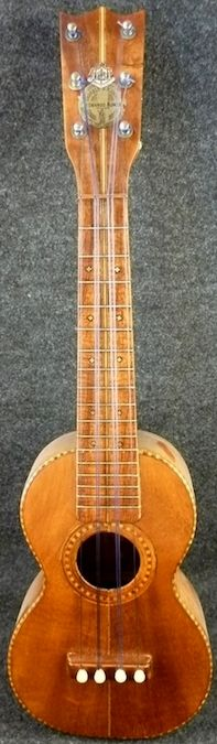 Leonardo Nunes 6 string proto-Liliu / Tiple Uke Hybrid. the middle to strings are double coursed but it shows Sam Kamaka wasn't the first one to have the idea... --- https://www.pinterest.com/lardyfatboy/