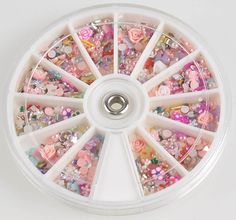 1 Sets Good-looking Popular 3D Acrylic Rhinestone Nails Art Wheels Salon Supplies Full Design Cellphone Pattern Style -24 ** Find out more about the great product at the image link.