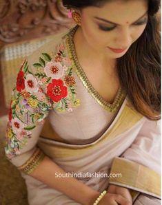 Saris, Saree Blouse Neck Designs, Saree Blouse Patterns, Kerala Saree Blouse Designs, Skirt Patterns, Coat Patterns, Sewing Patterns, Salwar Kameez, Kurti