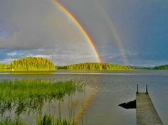 Rainbows, Kiurala, Sastamala, Finland, August 2013 (via Helena Kotro http://www.pinterest.com/pin/342203271659610942/ )