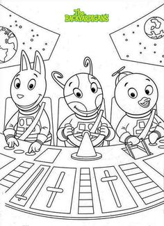 the backyardigans coloring sheets to print - Backyardigans Coloring Pages Print