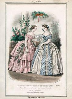 Le Conseiller des Dames  des Demoiselles, August 1855. LAPL Visual Collections.