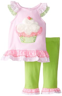 Amazon.com: Rare Editions Baby Baby-Girls Newborn Cupcake Applique Legging Set: Clothing