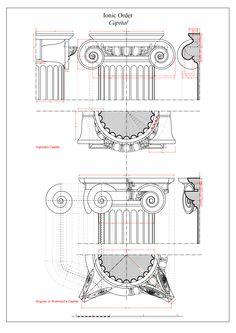 Ionic Entablature and Capital