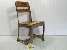 Vintage Hand Painted School Student Chair  Mid by DivineOrders, $30.00