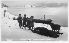 Niños Yaganes, Tierra del Fuego, década de 1920...