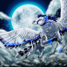 winged lightning wolf - Google Search