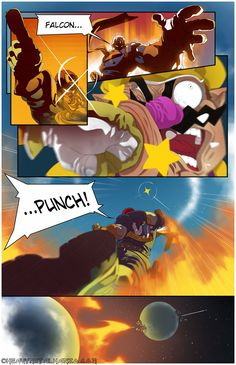 Falcon Punch! by *HeavyMetalHanzo on deviantART. Nintendo. Super Smash Bros. Captain Falcon.