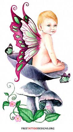 baby fairy tattoo   Fairy Tattoos   Cute, Evil, Small Fairy Tattoo Designs And Ideas