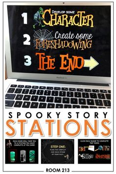 Get lots of online engagement with these spooky story stations. Your students will go through a process-based approach to planning, writing, and revising a narrative. Online Middle School, Middle School Ela, Middle School English, Narrative Writing, Sentence Writing, Informational Writing, English Activities, Writing Activities, Writing Lessons