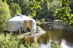 Yurt Makers in Staverton, Devon. Yurts to Buy or Hire. Yurt Maintenance Plans for specialist care. Yurt Living, Outside Living, Camping Set Up, Camping Glamping, Yurt Interior, Tent Design, Unusual Buildings, Dome House, Boho Life