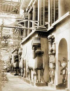The Assyrian court in the Crystal Palace - London.