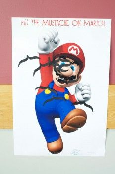 Pin the Mustache on Mario. Well DUH. How fun! [And other tips, complete with printables. Click through.]