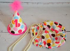 multicolour polka dots Cake smash outfit for girl by AggCrafts, £23.99