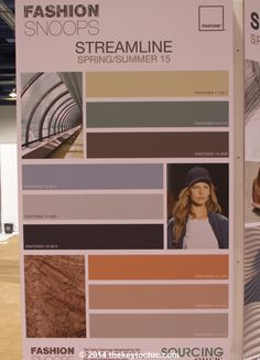 color palette for the spring summer 2015 Streamline fashion trend forecast as seen on The Key To Chic