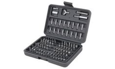 100-piece screwdriver bit set includes most popular sizes of Phillips, hex, slotted, square and other bit types; comes in a durable case