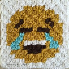 'Tears of joy' emoji. #crochet#crochetaddict#crochetofinstagram#crocheters#crocheting#crochetlove#crochetersofinstagram#crochetblanket#crochetc2c#crochetpixelgraph#crochetc2cblanket#knit#pixel#blanket#pixelgraph#tearsofjoy#heart#crochetheart#emojis#handmade#handmadecrochet#valentine#afghan#emoji#embarrassedemoji#etsy#etsyshop#etsyseller#heartemoji#hearteyes by jenjohnsoncrochet