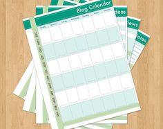 Blog Planner and Calendar, printable