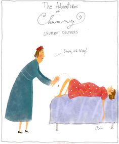 """""""Chummy Delivers"""" by Jana Christy. Chummy is my second favorite character on the BBC show """"Call the Midwife."""" Sister Monica Joan is my handsdown favorite of them all. Chummy Call The Midwife, Nurse Art, Becoming A Nurse, Midwifery, Period Dramas, Funny, Hilarious, Favorite Tv Shows, Nerdy"""
