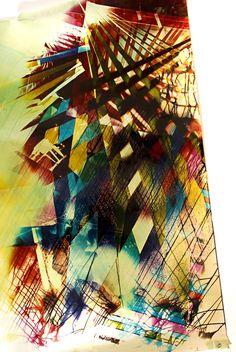 Mariah Robertson: Color Print on Metallic Paper. 2010