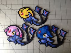perler | Tumblr Kandi Patterns, Perler Patterns, Beading Patterns, Stitch Patterns, Pixel Pokemon, Hama Beads Pokemon, Pokemon Sprites, Pixel Art Templates, Pixel Pattern