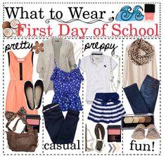 """""""- What To Wear ; First Day of School ♥ // By ; Cheri (:"""" by teen-advice-and-style ❤ liked on Polyvore"""