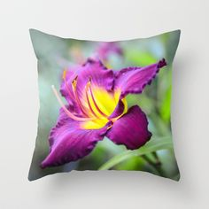 Purple Lady Throw Pillow by Mary Timman - $20.00
