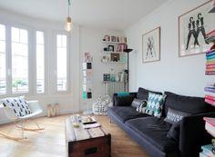 Visite guidée dans l'appartement de Chrysoline de Gastine, la créatrice de la marque mode Balzac Parisien. Elle dévoile un intérieur épuré et vintage.