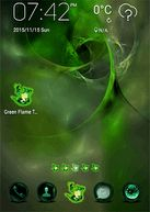 Download Android - Green Flame GO theme from http://apkfreemarket.com/green-flame-go-theme/