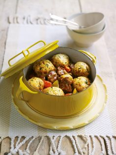 Lamb and pearl barley casserole with mustard and parsley dumplings recipe. This can be made then put in the freezer ready for a cold evening. The cheesy dumplings will win anyone's heart. Worth every calorie! Lamb Casserole Recipes, Beef Casserole, Lamb Recipes, Meat Recipes, Slow Cooker Recipes, Cooking Recipes, Barley Recipes, Savoury Recipes, Free Recipes