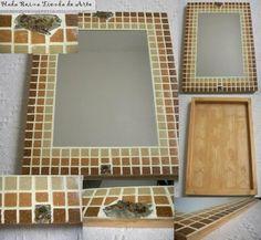 Espejos  Marco Venecitas  Mosaiquismo - Varios - Arte - 516341