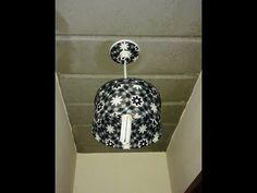 Como Fazer Luminária de Lacres e a estrutura fita perfurada, bocal lampada. - YouTube