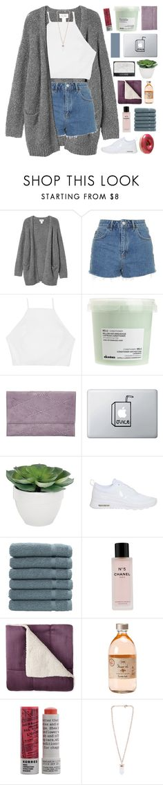 """""""never be like you // collab with @nxstalgia"""" by omgjailah ❤ liked on Polyvore featuring Monki, Topshop, rag & bone, Davines, Bungalow 20, NARS Cosmetics, Torre & Tagus, NIKE, Linum Home Textiles and Chanel"""
