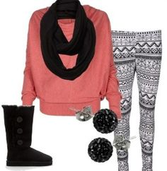 pink with aztec leggins