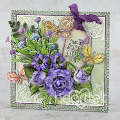 Climbing Clematis, Heartfelt Creations Cards, Flower Shape, Greeting Cards Handmade, Creative Inspiration, Cardmaking, Cheer, Vibrant Colors, Floral Wreath